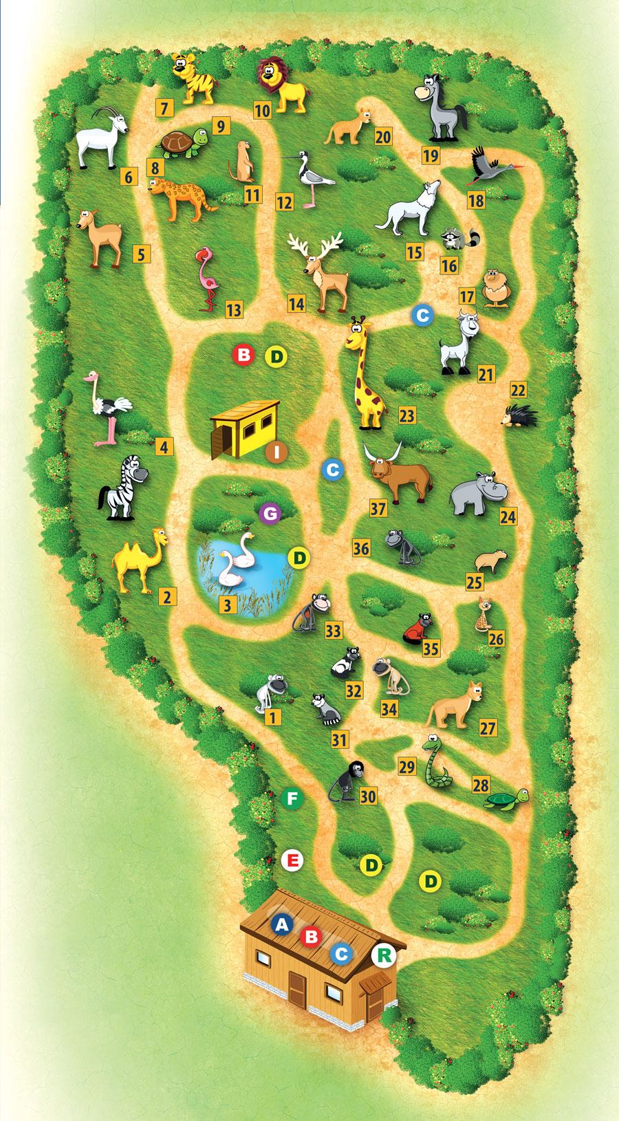 mappa parco zoo Falconara